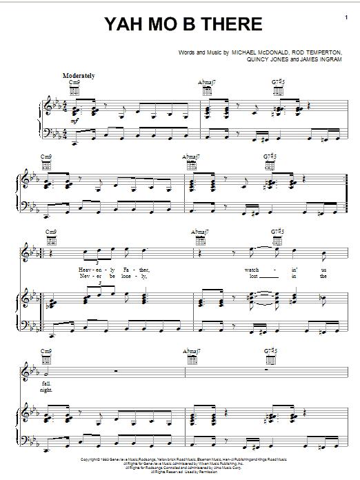 Michael McDonald Yah Mo B There sheet music notes and chords. Download Printable PDF.