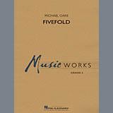 Download Michael Oare 'Fivefold - Baritone T.C.' Printable PDF 2-page score for Concert / arranged Concert Band SKU: 377847.
