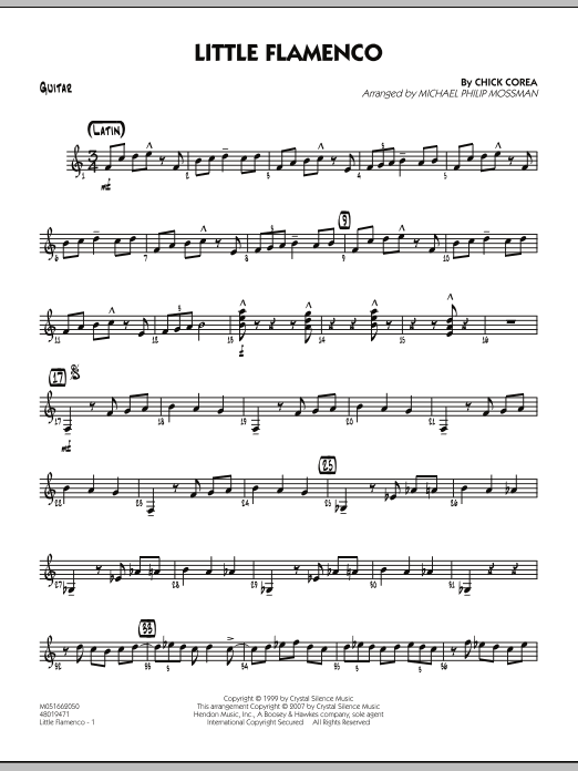 Michael Philip Mossman Little Flamenco - Guitar sheet music notes and chords. Download Printable PDF.
