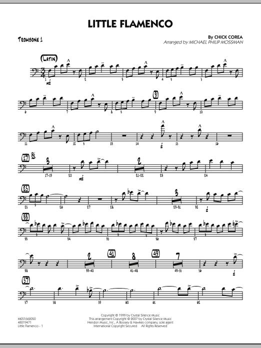 Michael Philip Mossman Little Flamenco - Trombone 1 sheet music notes and chords. Download Printable PDF.