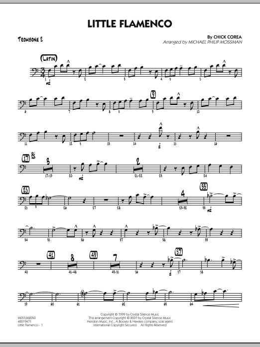 Michael Philip Mossman Little Flamenco - Trombone 2 sheet music notes and chords. Download Printable PDF.