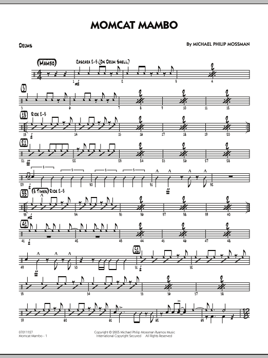 Michael Philip Mossman Momcat Mambo - Drums sheet music notes and chords