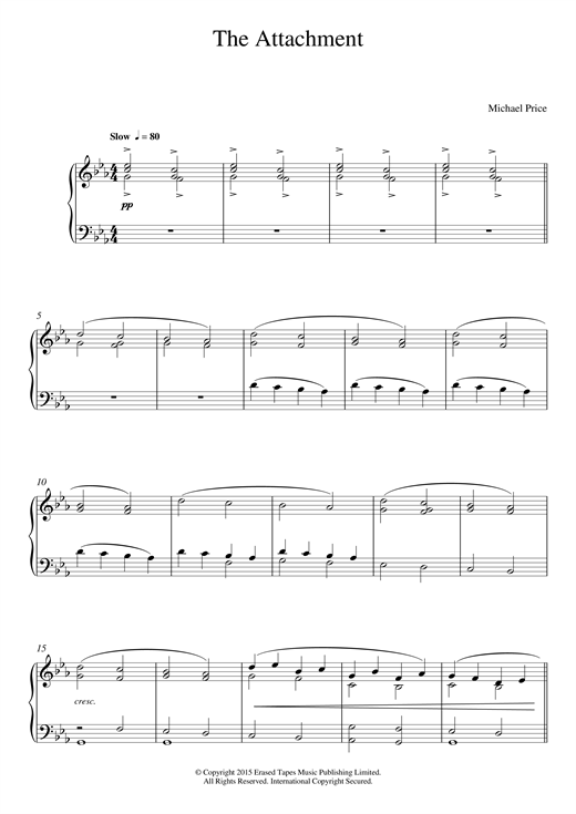 Michael Price The Attachment sheet music notes and chords. Download Printable PDF.