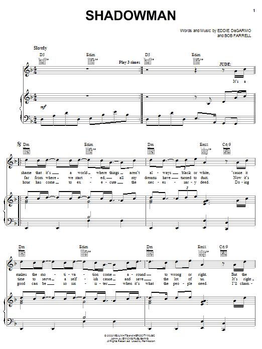 Michael Quinlan Shadowman sheet music notes and chords. Download Printable PDF.