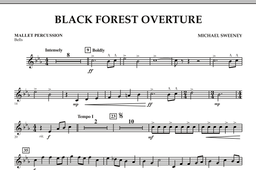 Michael Sweeney Black Forest Overture - Mallet Percussion sheet music notes and chords. Download Printable PDF.