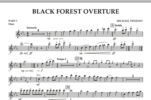 Michael Sweeney Black Forest Overture - Pt.1 - Flute sheet music notes and chords. Download Printable PDF.