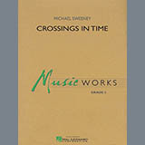 Download or print Michael Sweeney Crossings In Time - Bb Bass Clarinet Sheet Music Printable PDF 1-page score for Contest / arranged Concert Band SKU: 346083.
