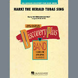 Download or print Michael Sweeney Hark! The Herald Tubas Sing - Bb Clarinet 3 Sheet Music Printable PDF 1-page score for Christmas / arranged Concert Band SKU: 288001.