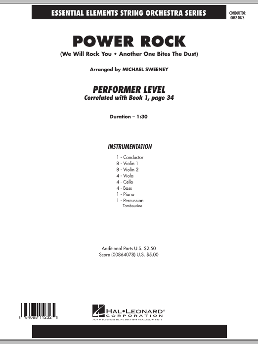 Michael Sweeney Power Rock - Full Score sheet music notes and chords. Download Printable PDF.