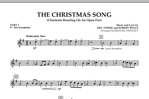 Michael Sweeney The Christmas Song (Chestnuts Roasting On An Open Fire) - Pt.2: Eb Alto Saxophone sheet music notes and chords. Download Printable PDF.