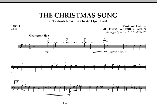 Michael Sweeney The Christmas Song (Chestnuts Roasting On An Open Fire) - Pt.4: Cello sheet music notes and chords. Download Printable PDF.