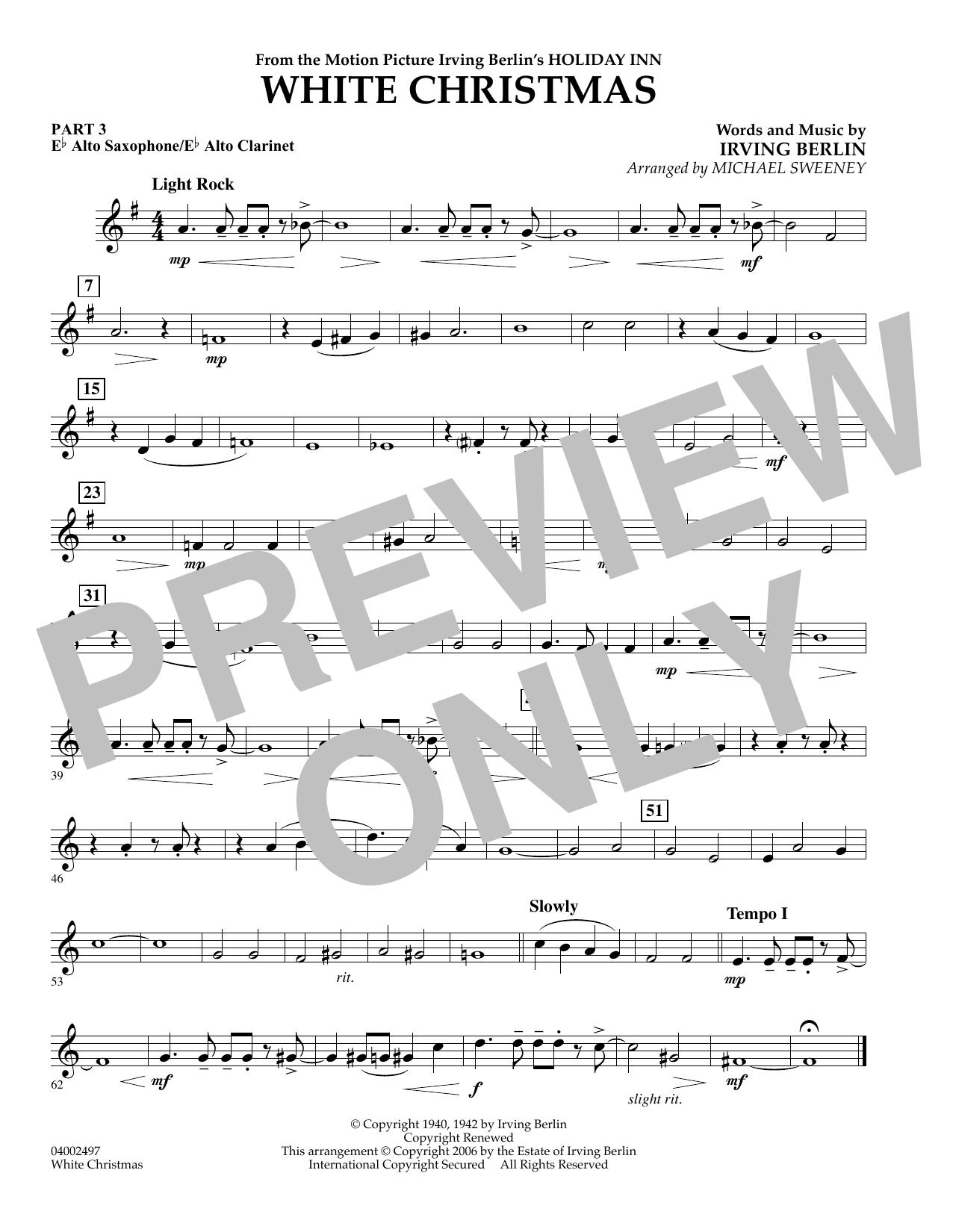 Michael Sweeney White Christmas (Flex-Band) - Pt.3 - Eb Alto Sax/Alto Clar. sheet music notes and chords
