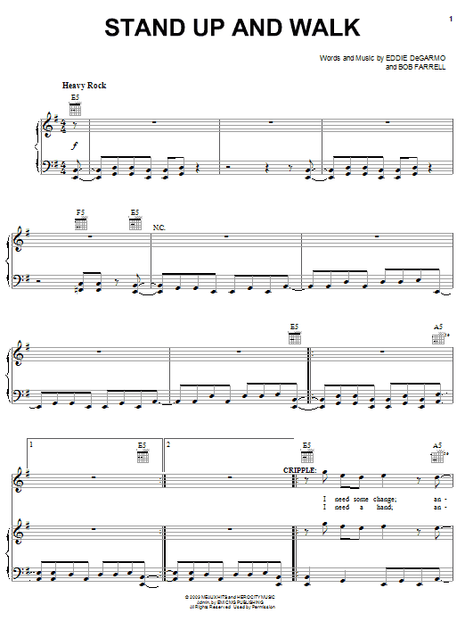Michael Tait Stand Up And Walk sheet music notes and chords. Download Printable PDF.