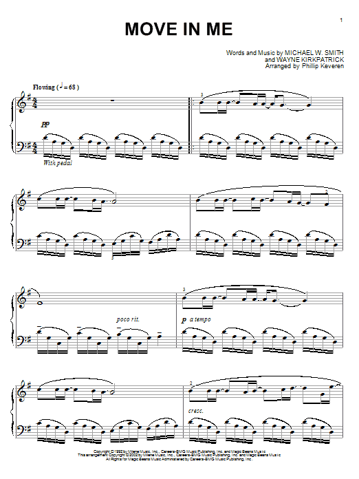 Michael W. Smith Move In Me sheet music notes and chords. Download Printable PDF.