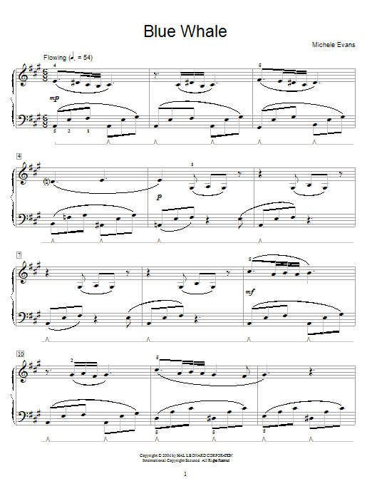 Michele Evans Blue Whale sheet music notes and chords