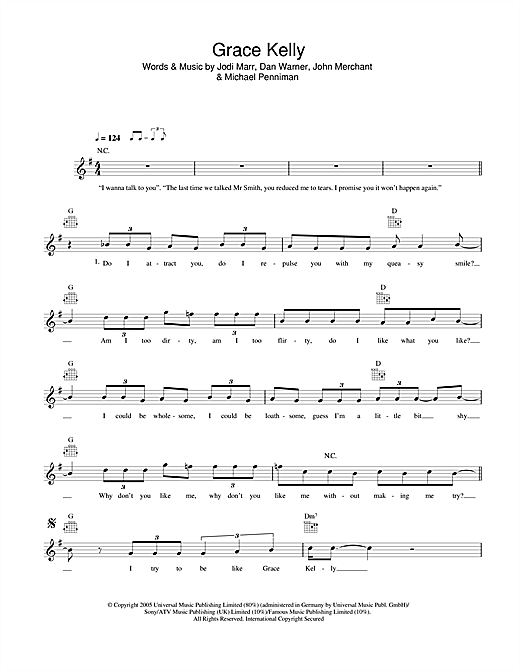Mika Grace Kelly sheet music notes and chords. Download Printable PDF.