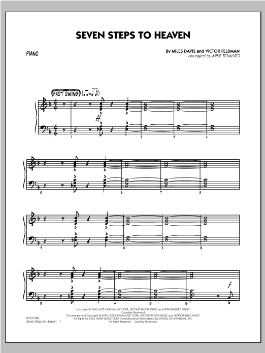 Mike Tomaro Seven Steps To Heaven - Piano sheet music notes and chords. Download Printable PDF.
