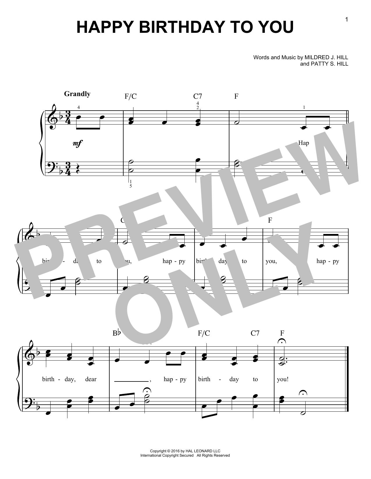 ピアノ ハッピー バースデー トゥーユー