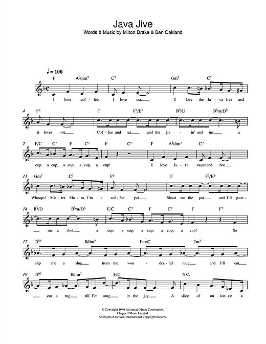 Milton Drake Java Jive sheet music notes and chords. Download Printable PDF.