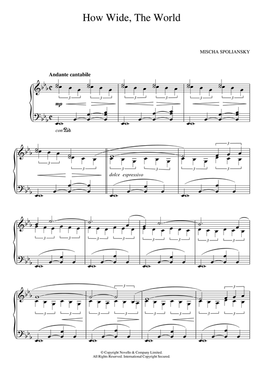 Mischa Spoliansky How Wide, The World sheet music notes and chords. Download Printable PDF.