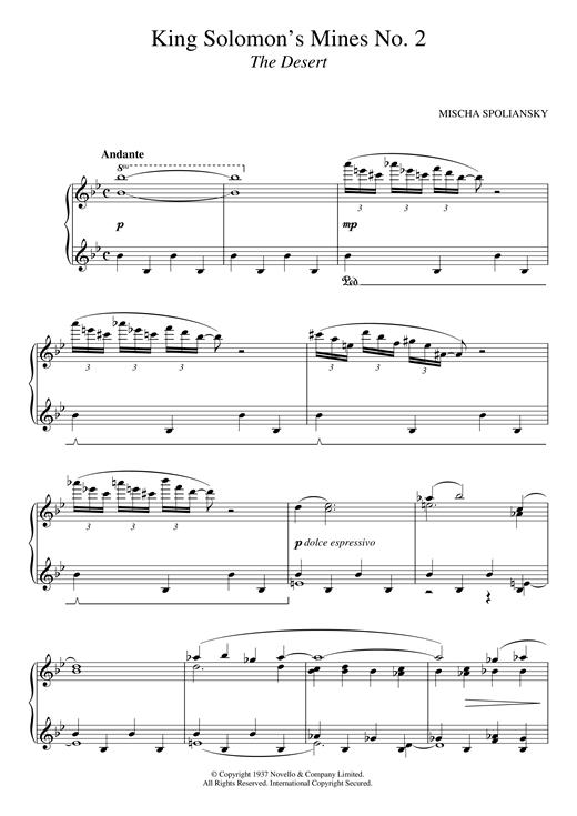 Mischa Spoliansky King Solomon's Mines 2: The Desert sheet music notes and chords. Download Printable PDF.