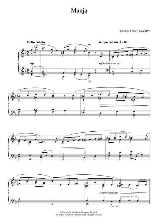 Mischa Spoliansky Manja sheet music notes and chords. Download Printable PDF.