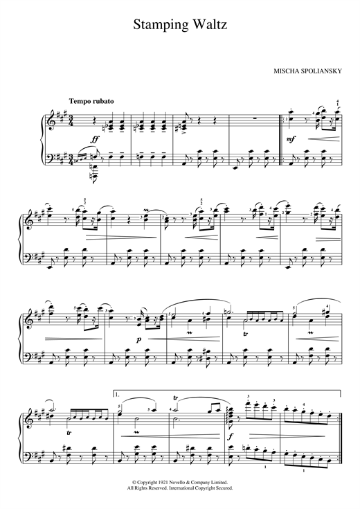 Mischa Spoliansky Stamping Waltz sheet music notes and chords. Download Printable PDF.