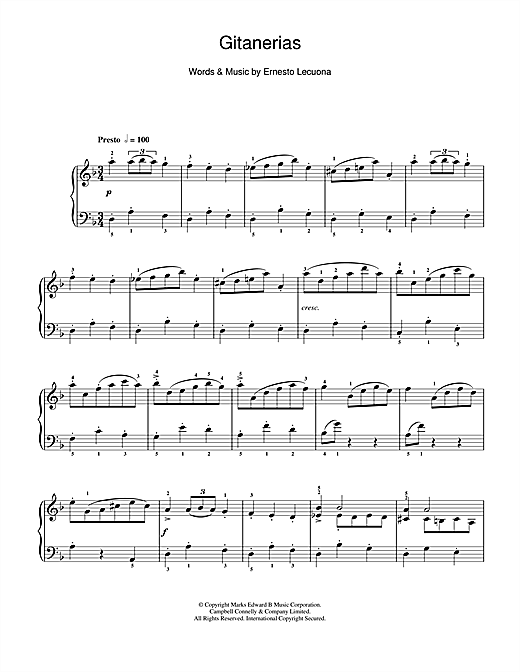 Morton Gould Gitanerias sheet music notes and chords. Download Printable PDF.