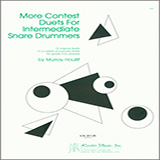 Download Murray Houllif 'More Contest Duets For Intermediate Snare Drummers' Printable PDF 24-page score for Concert / arranged Percussion Ensemble SKU: 404799.