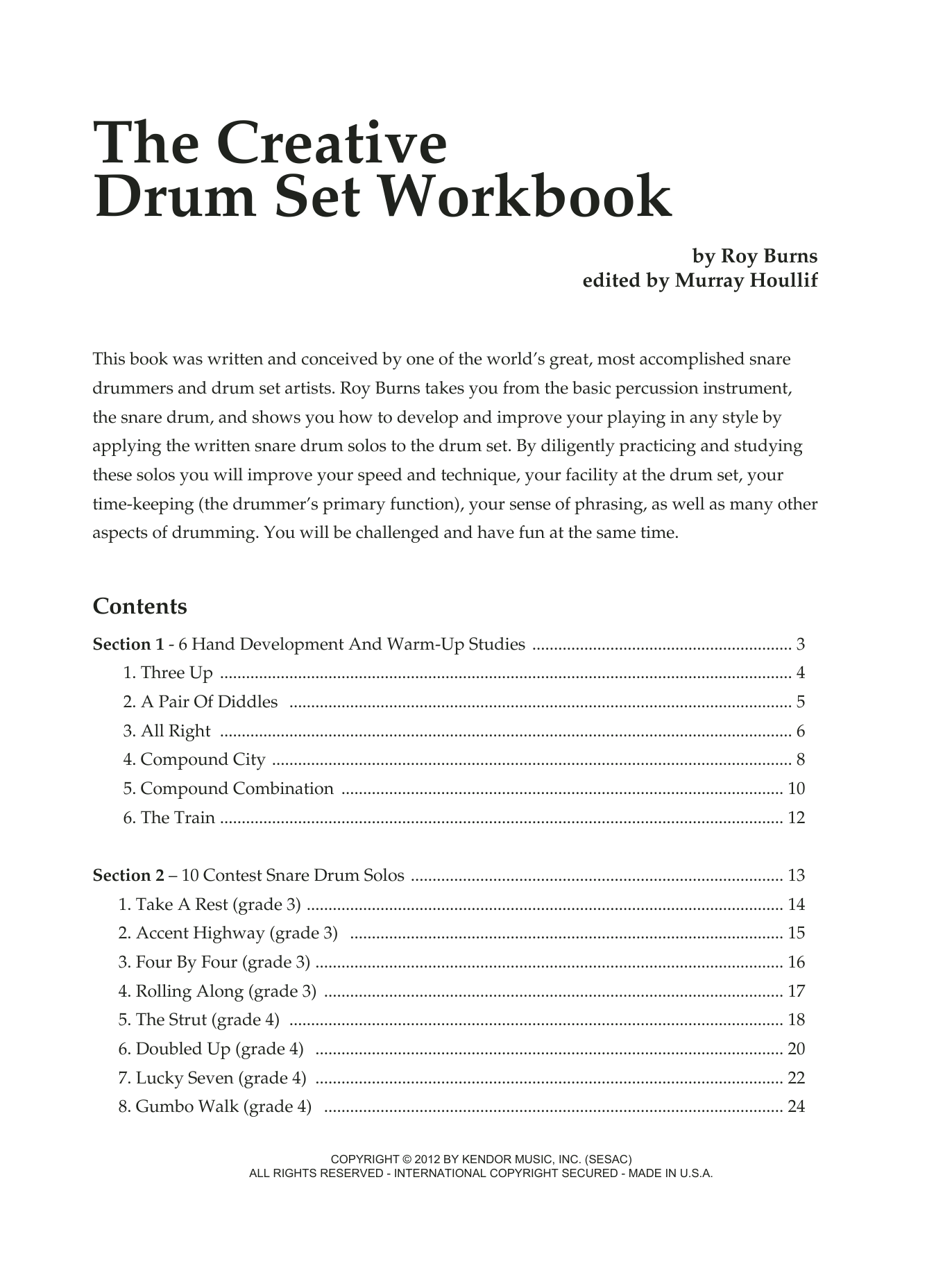 Murray Houllif The Creative Drum Set Workbook sheet music notes and chords