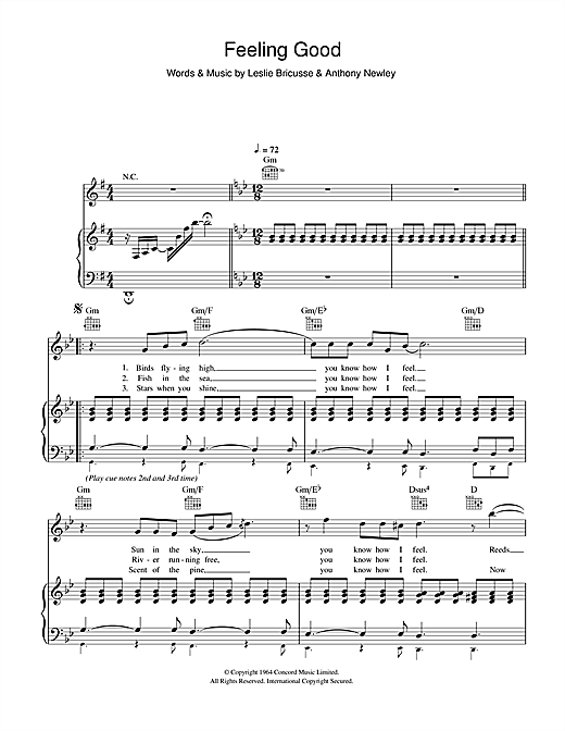 Muse Feeling Good sheet music notes and chords