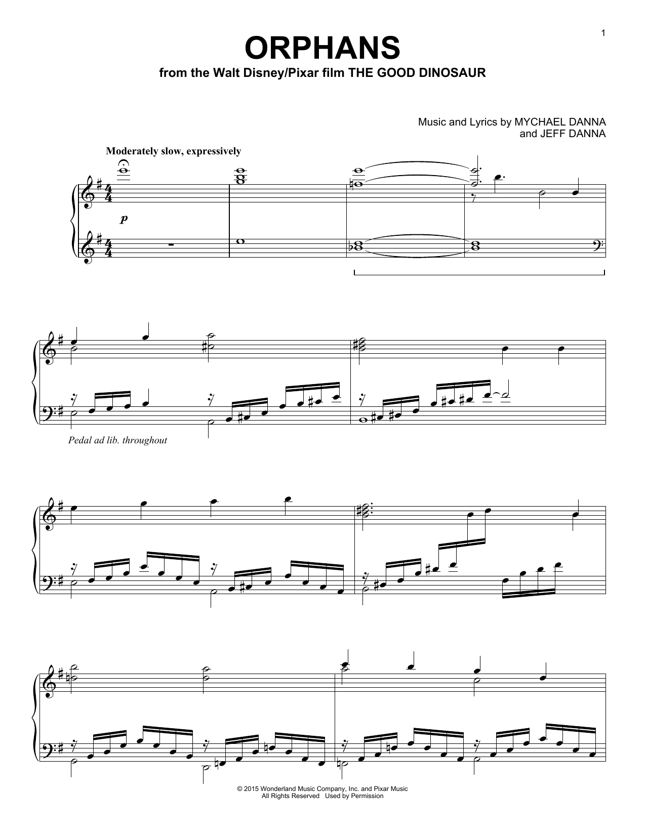 Mychael & Jeff Danna Orphans sheet music notes and chords. Download Printable PDF.