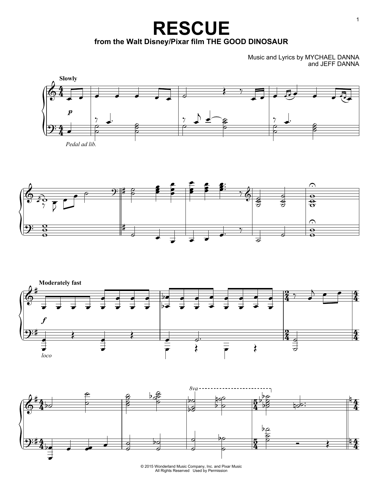 Mychael & Jeff Danna Rescue sheet music notes and chords. Download Printable PDF.