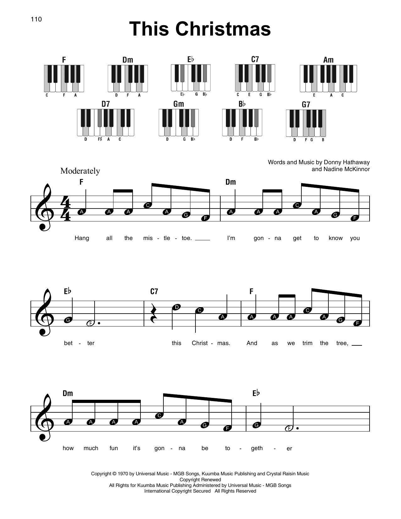 Nadine McKinnor This Christmas sheet music notes and chords. Download Printable PDF.