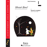 Download Nancy Faber 'Shout Boo!' Printable PDF 2-page score for Children / arranged Piano Adventures SKU: 356966.