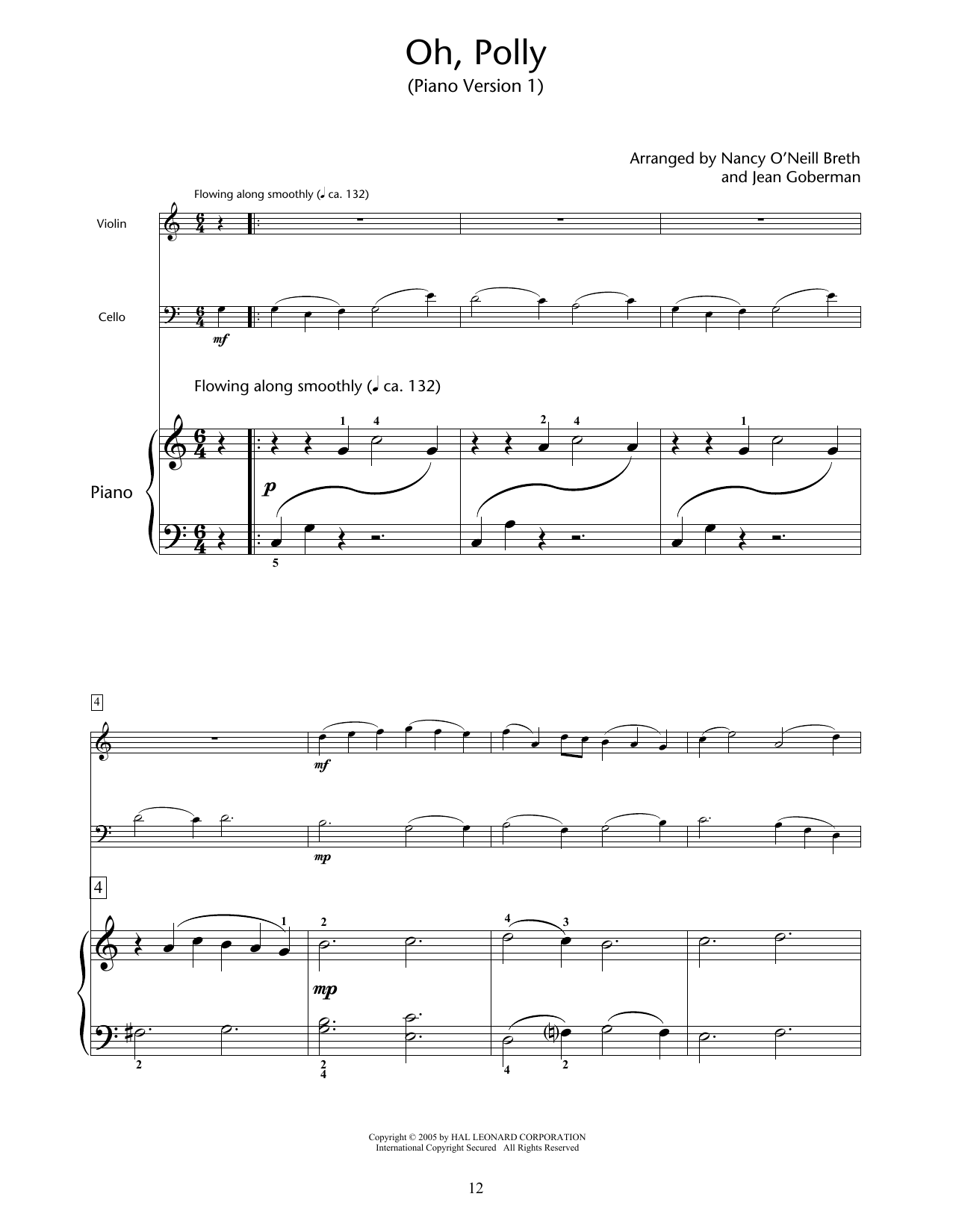 Nancy O'Neill Breth & Jean Goberman Oh, Polly sheet music notes and chords. Download Printable PDF.
