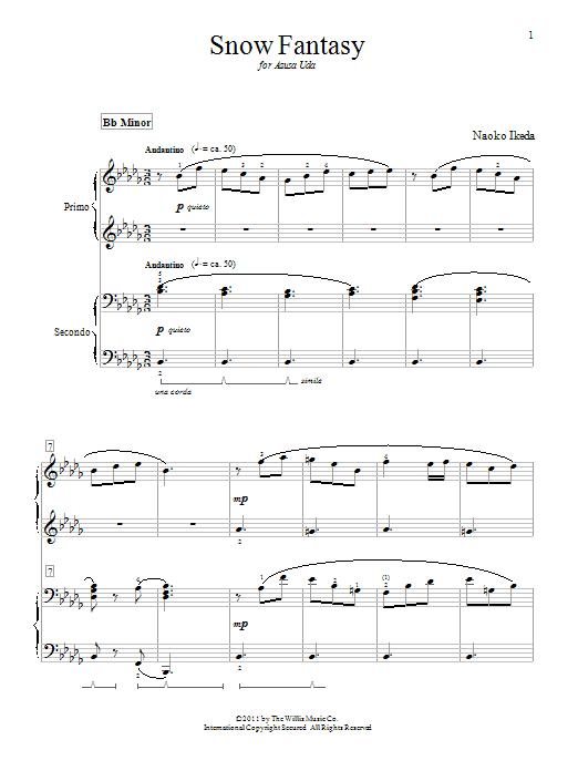 Naoko Ikeda Snow Fantasy sheet music notes and chords. Download Printable PDF.