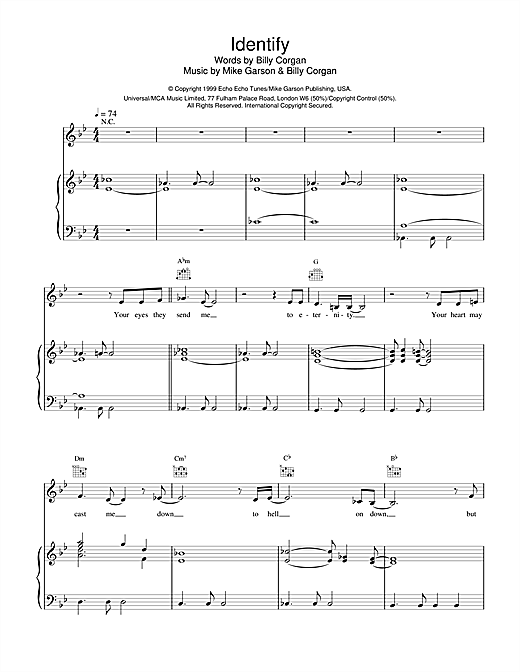Natalie Imbruglia Identify (from Stigmata) sheet music notes and chords