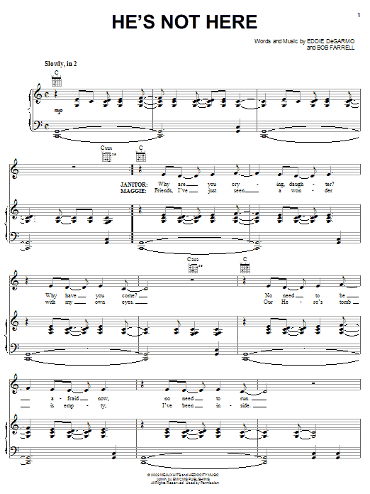 Nathan Lee He's Not Here sheet music notes and chords. Download Printable PDF.