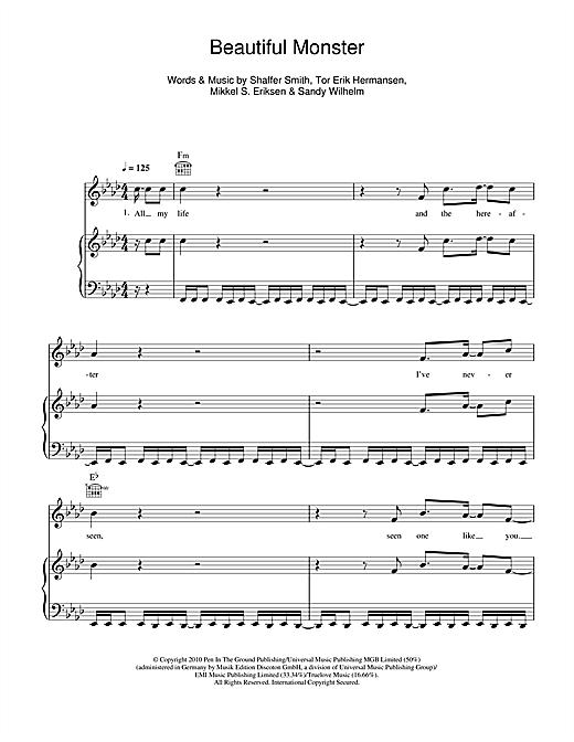 Ne-Yo Beautiful Monster sheet music notes and chords