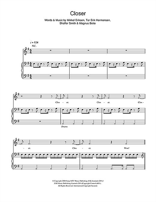 Ne-Yo Closer sheet music notes and chords