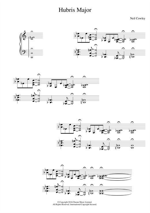 Neil Cowley Trio Hubris Major sheet music notes and chords. Download Printable PDF.