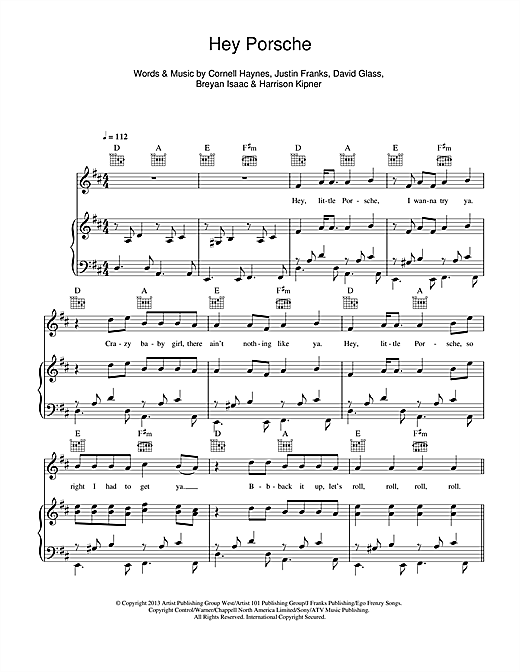 Nelly Hey Porsche sheet music notes and chords. Download Printable PDF.