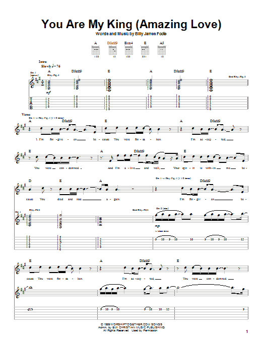 Newsboys You Are My King (Amazing Love) sheet music notes and chords. Download Printable PDF.
