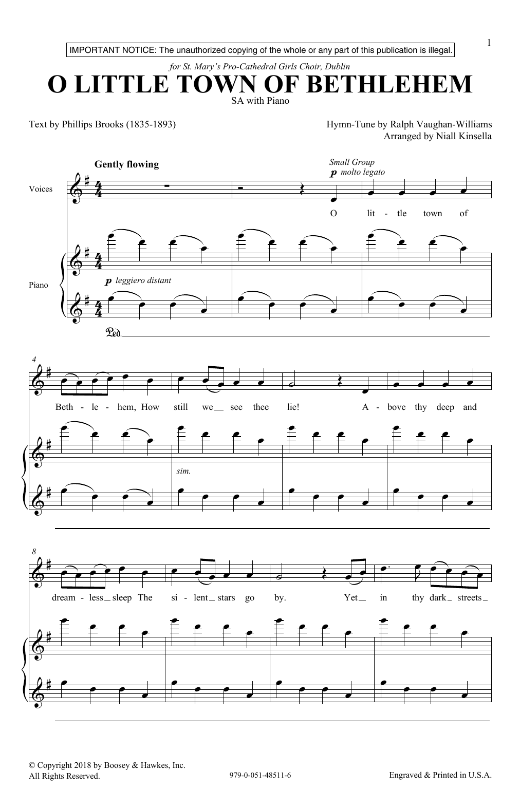 Niall Kinsella O Little Town Of Bethlehem sheet music notes and chords