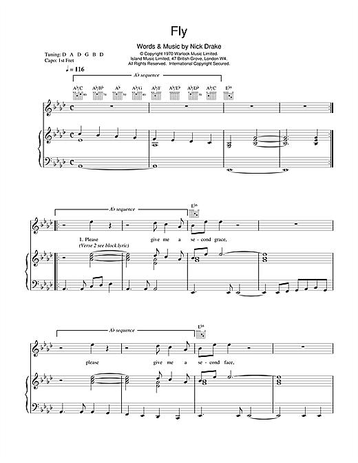 Nick Drake Fly sheet music notes and chords