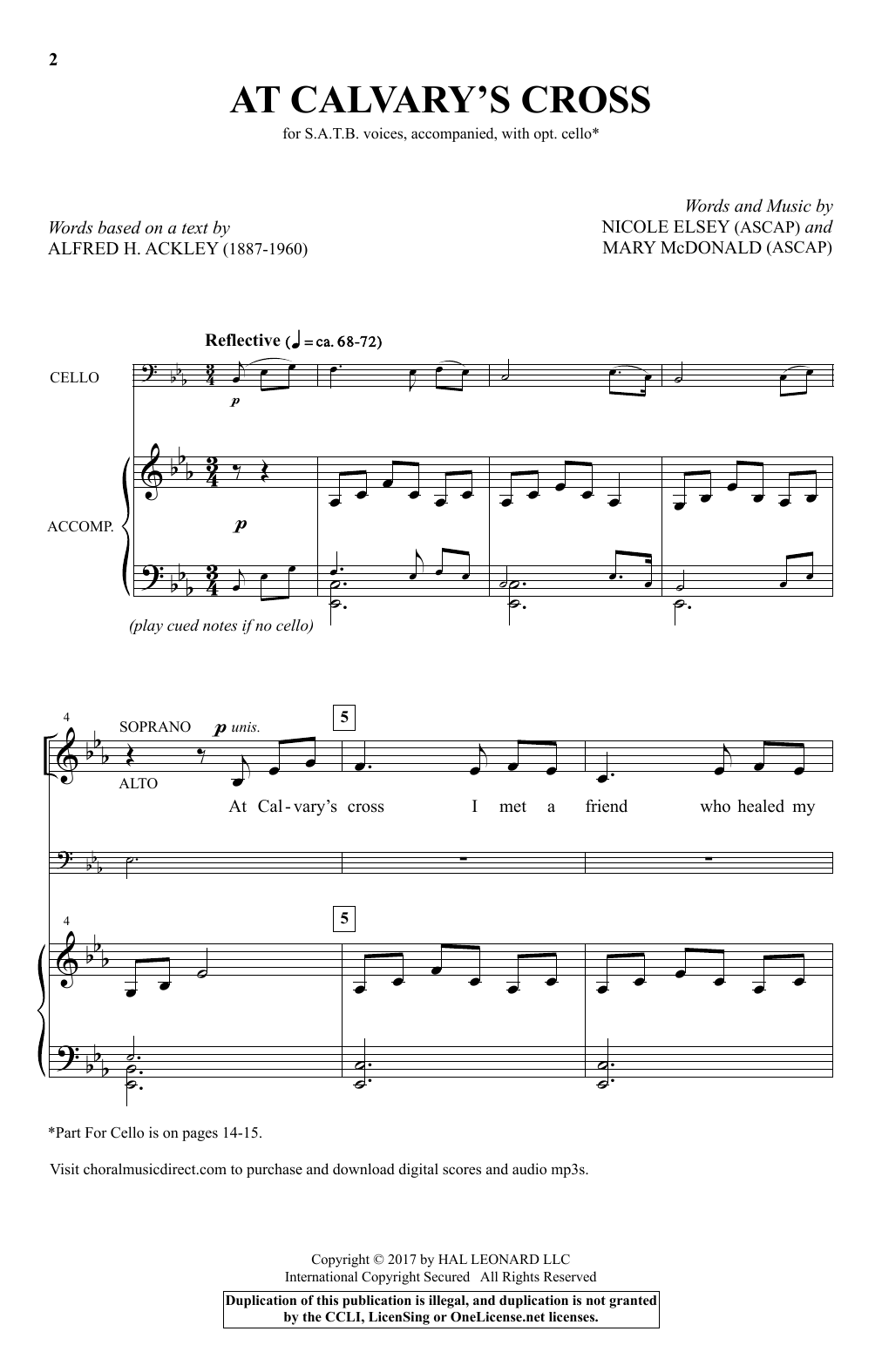 Nicole Elsey At Calvary's Cross sheet music notes and chords. Download Printable PDF.