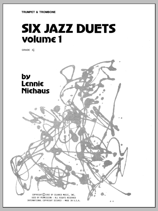 Niehaus Six Jazz Duets, Volume 1 sheet music notes and chords. Download Printable PDF.