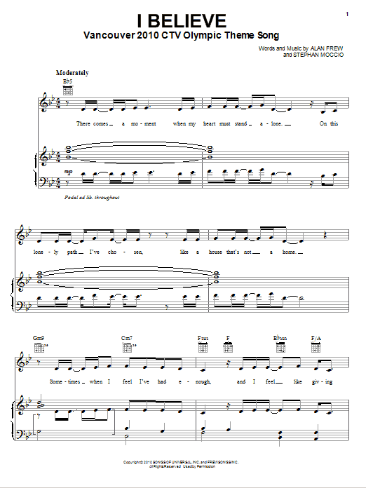 Nikki Yanofsky I Believe sheet music notes and chords. Download Printable PDF.