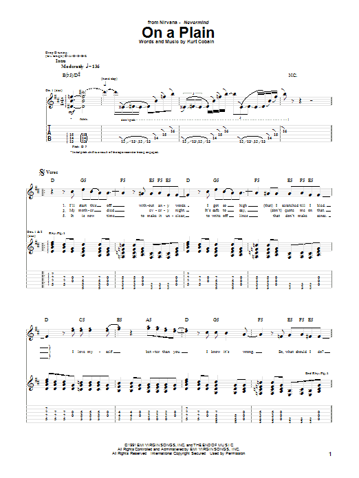Nirvana On A Plain sheet music notes and chords. Download Printable PDF.